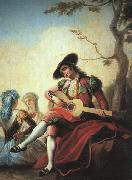 Ramon Bayeu Boy with Guitar oil painting artist