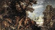Roelant Savery Landscape with Wild Animals oil painting artist