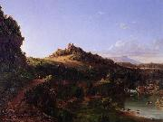 Thomas Cole Catskill Scenery oil painting