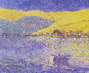 Seldon Connor Gile Boat and Yellow Hills oil painting picture wholesale