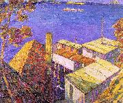 Seldon Connor Gile Tiburon Housetops oil painting picture wholesale