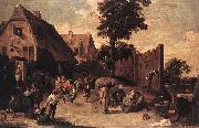 Peasants Dancing outside an Inn wt