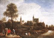 TENIERS, David the Younger A View of Het Sterckshof near Antwerp r oil painting picture wholesale