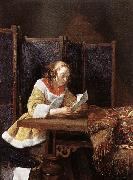A Lady Reading a Letter eart