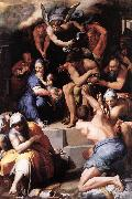 TIBALDI, Pellegrino Adoration of the Christ Child gi oil painting picture wholesale
