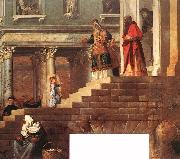 TIZIANO Vecellio Presentation of the Virgin at the Temple (detail) er oil painting picture wholesale