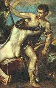 Venus and Adonis, detail AR