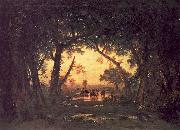 Theodore Rousseau The Forest of Fontainebleau, Morning oil painting picture wholesale