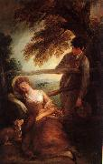 Thomas Gainsborough Haymaker and Sleeping Girl oil painting picture wholesale