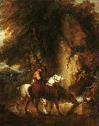 Thomas Gainsborough Wooded Landscape with Mounted Drover oil painting artist
