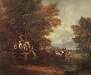 Thomas Gainsborough The Harvest Wagon oil painting picture wholesale