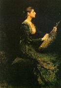 Thomas Wilmer Dewing Lady with a Lute oil painting picture wholesale