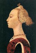 UCCELLO, Paolo Portrait of a Lady at oil painting reproduction