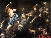 VALENTIN DE BOULOGNE Christ Driving the Money Changers out of the Temple wt oil painting picture wholesale