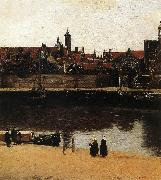 View of Delft (detail) wt