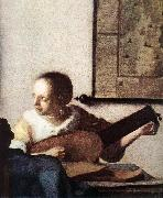 VERMEER VAN DELFT, Jan Woman with a Lute near a Window (detail) wt oil painting picture wholesale