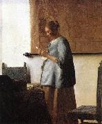 VERMEER VAN DELFT, Jan Woman in Blue Reading a Letter ng oil painting picture wholesale