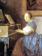 Lady Seated at a Virginal (detail) aer