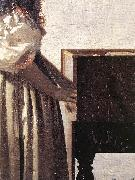 Lady Standing at a Virginal (detail) wer