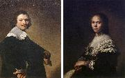 Portrait of a Man and Portrait of a Woman  wer