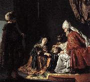 Hannah Giving Her Son Samuel to the Priest ar