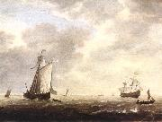 VLIEGER, Simon de A Dutch Man-of-war and Various Vessels in a Breeze r oil painting picture wholesale