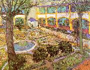 Vincent Van Gogh The Courtyard of the Hospital in Arles oil painting picture wholesale