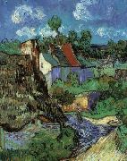 Vincent Van Gogh Houses in Auvers oil painting artist