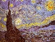 Vincent Van Gogh Starry Night oil painting artist