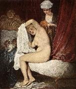 WATTEAU, Antoine The Toilette oil painting reproduction