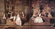 WATTEAU, Antoine L Enseigne de Gersaint oil painting picture wholesale