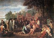 WEST, Benjamin The Treaty of Penn with the Indians. oil painting