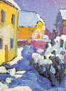 Wassily Kandinsky Cemetery and Vicarage in Kochel oil painting picture wholesale