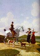 Wilhelm von Kobell Riders on Lake Tegernsee oil painting picture wholesale