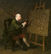 William Hogarth Self Portrait at the Easel oil painting picture wholesale