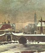 Wouter Johannes van Troostwijk The Raampoortje Gate at Amsterdam oil painting picture wholesale