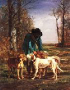 constant troyon gamekeeper oil painting