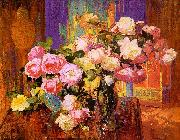 Bischoff, Franz Roses oil painting reproduction