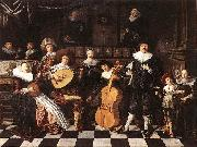 MOLENAER, Jan Miense Family Making Music ag oil painting picture wholesale