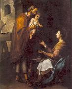 MURILLO, Bartolome Esteban The Holy Family g oil painting reproduction