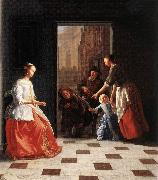 OCHTERVELT, Jacob Street Musicians at the Doorway of a House dh oil painting picture wholesale