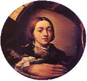 PARMIGIANINO Self-portrait in a Convex Mirror a oil painting picture wholesale