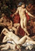 POUSSIN, Nicolas Midas and Bacchus (detail) ag oil painting picture wholesale