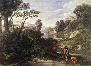 POUSSIN, Nicolas Landscape with Diogenes af oil painting picture wholesale