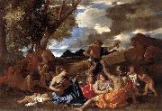 POUSSIN, Nicolas Bacchanal: the Andrians af oil painting picture wholesale