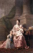 Queen Charlotte with her Two Children dy