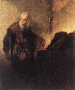 REMBRANDT Harmenszoon van Rijn St Paul at his Writing-Desk oil painting picture wholesale