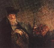 REMBRANDT Harmenszoon van Rijn Old Rabbi (detail) dh oil painting picture wholesale