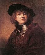 REMBRANDT Harmenszoon van Rijn Self Portrait as a Young Man  dh oil painting picture wholesale