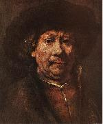 REMBRANDT Harmenszoon van Rijn Little Self-portrait sgr oil painting picture wholesale